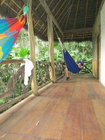 Liana Lodge : Private balcony. I can almost hear the sounds of the rainforest again!