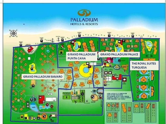 The Royal Suites Turquesa by Palladium: Map of the property...I found this very helpful!