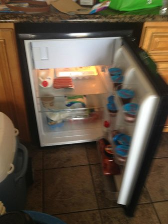 Marjac Suites: refrigerator