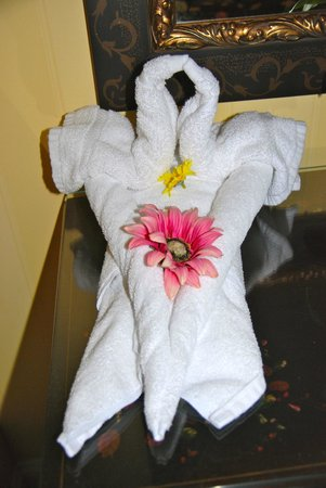 Main Street Inn and Suites: Lovely towel swan
