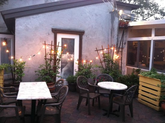 Arte Pizza: Outdoor seating if it's too crowded inside, and it probably will be.