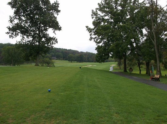 Cacapon State Park: The tee box at the first hole