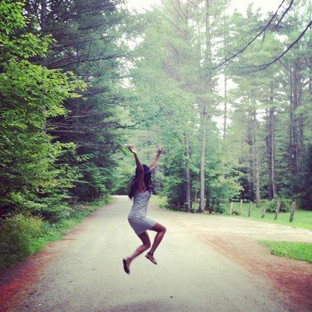 Hubbard Park: jumping for joy