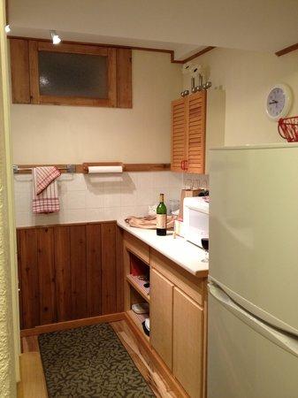 Banff Beaver Cabins : Kitchen area
