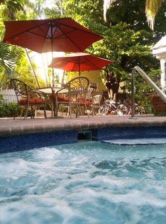 Tropical Inn: breakfast view from the hot tub