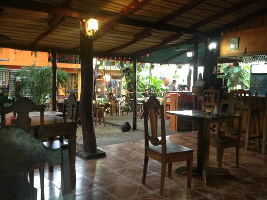 Coco's Mexican Restaurant: Interior of restaurant.  Almost all dinners in Costa Rica are outdoors