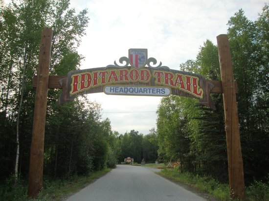 Iditarod Headquarters: Entrance to the visitor center
