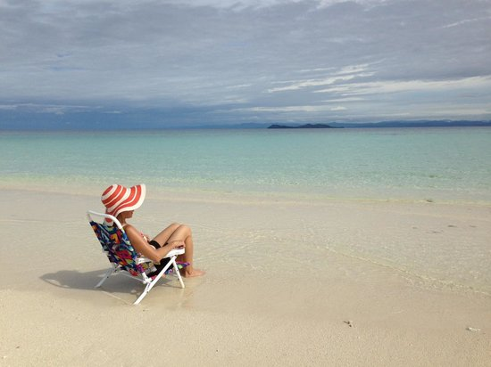 Kulu Bay Resort: Me at the sand bar relaxing. This is a must-see and experience!