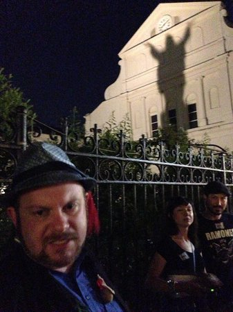 Haunted History Tours of New Orleans: Touchdown Jesus!