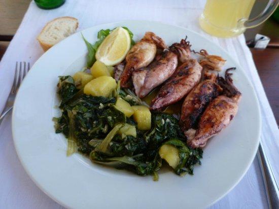 Restaurant Santo: 美味しかったイカのグリル