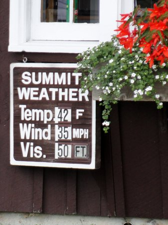 Mount Washington Observatory Weather Discovery Center: It was 70 and partly cloudy when we started!