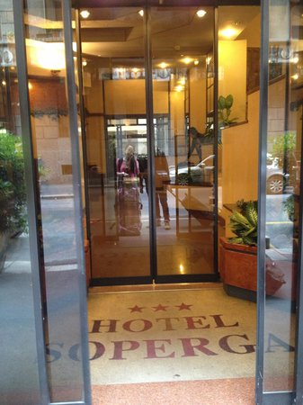 Soperga Hotel : At the entrance of the hotel