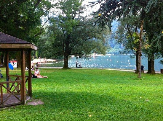 Hotel al Sorriso Greenpark & Wellness: scorcio del lago di levico dall'hotel