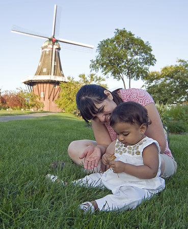 Windmill Island Gardens: De Zwaan Windmill and Lawn