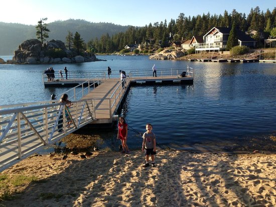Big Bear Lake, Californië: Overlooking Boulder Bay
