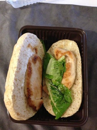 Morrissey Hotel Residences : The grilled chicken is a little bit too small for the ciabatta :)