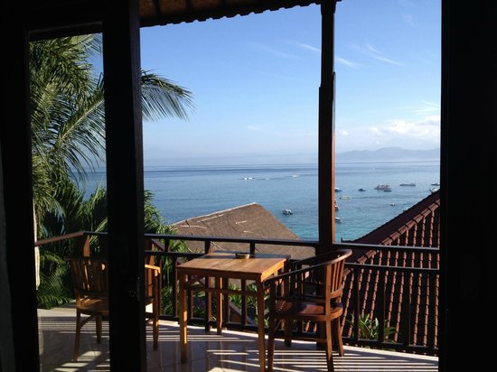Lembongan Reef Bungalow: view from bed