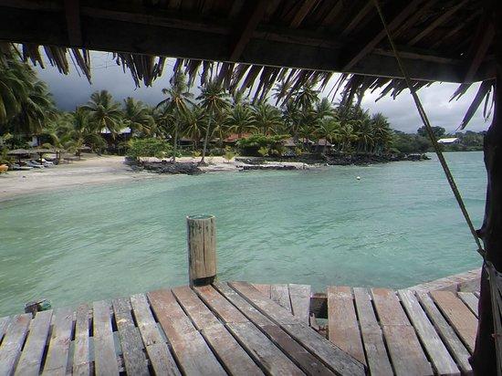 Va-i-Moana Seaside Lodge: view from wharf area