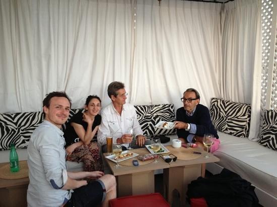 El Morocco Club: dîner sur la terrasse