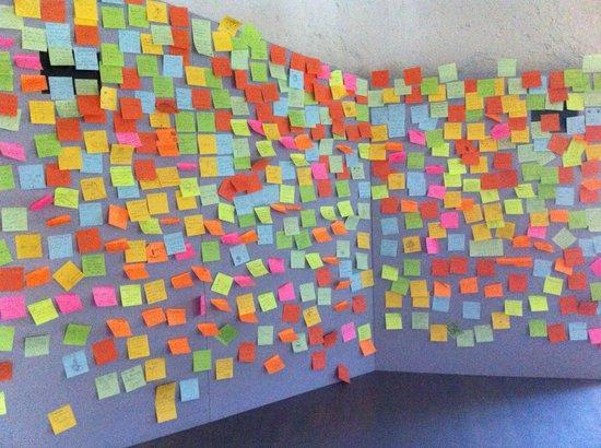 Chateau de Clervaux : notes left by visitors!