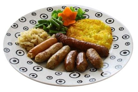Pepito Cafe Tuban: Sausages Small Combination Platter