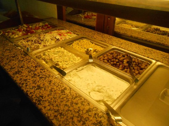 Hotel Gortyna: Le buffet froid du midi