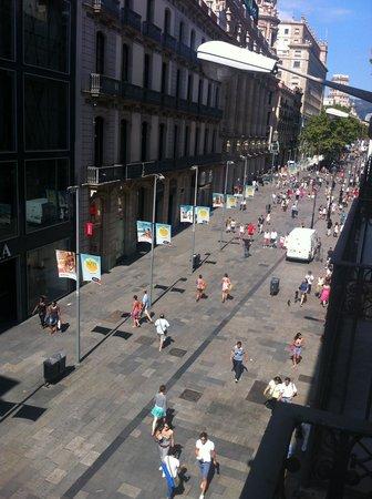 Pension Arosa: Vue du balcon