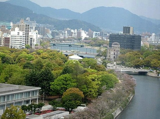 View From Room - Picture Of Hotel Sunroute Hiroshima  Hiroshima