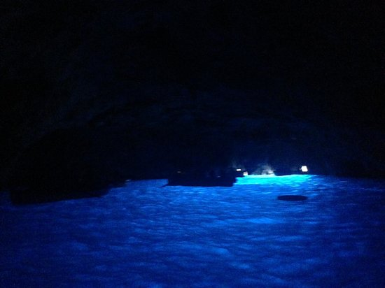 Limo Service Naples: our view from inside the Blue Grotto!!