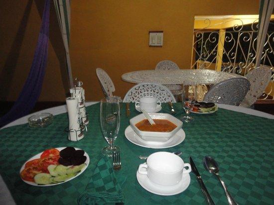 Hostal Casa La Torres Padron : Abendessen, Vorspeise