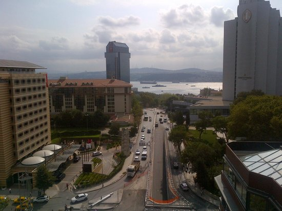 Point Hotel Taksim: View from the rooftop restaurant's terrace