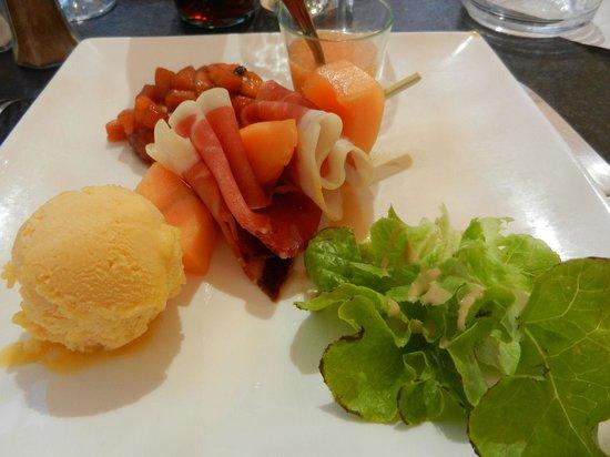 La Bonne Auberge : Déclinaison de melon