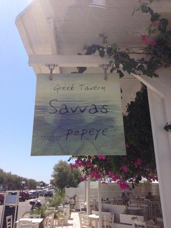 Savvas Popeye Taverna, Perivolos Beach