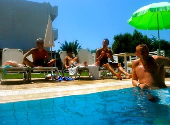 El Komi: Some of my neighbours on our last day at the pool