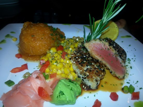 Ahi tuna picture of fish thyme acworth tripadvisor for Fish thyme acworth