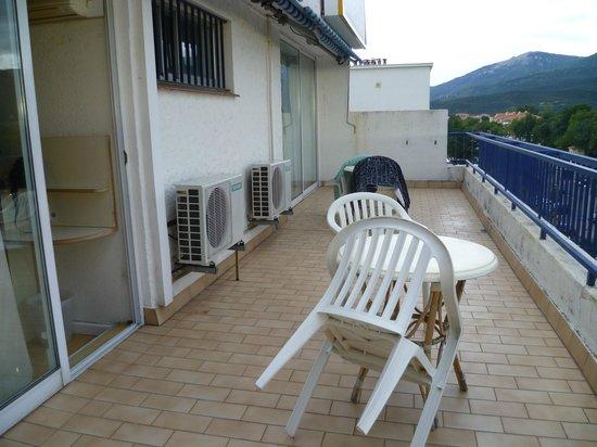 Hotel Centre Plage: Terrasse de la chambre familiale