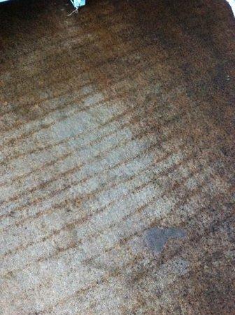 Nevada Jacarei Praia Hotel: Carpete sujo e velho