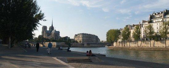 Linkes Ufer (Rive Gauche): La Seine, et Notre Dame au fond d'aprés la rive gauche...
