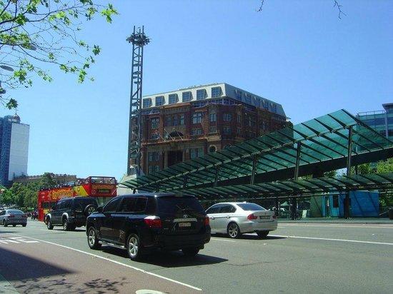 Central Railway Station: Vista da Estação Central a partir da Georg St.