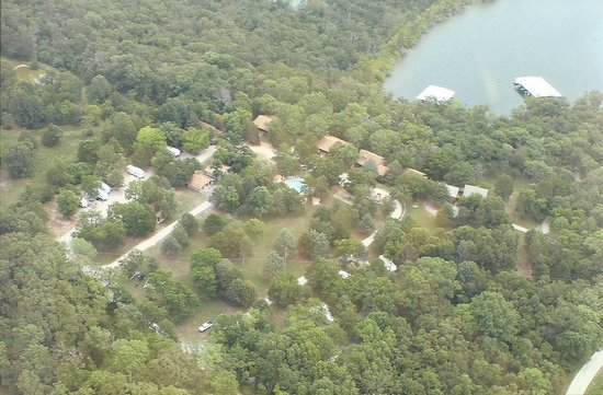 Aerial View of Bar M Resort & Campground on Table Rock Lake