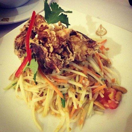 Thai Pothong: Soft Shell Crab Mango Salad