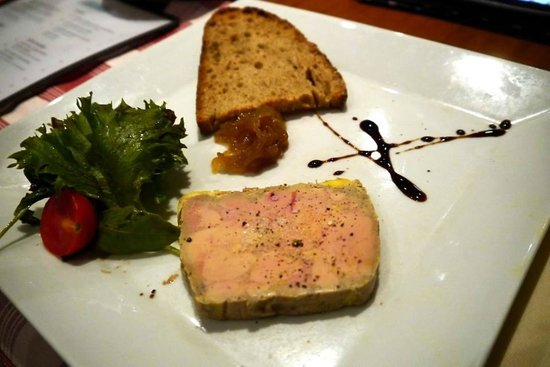 La Meissouniere: foie gra with toasted bread