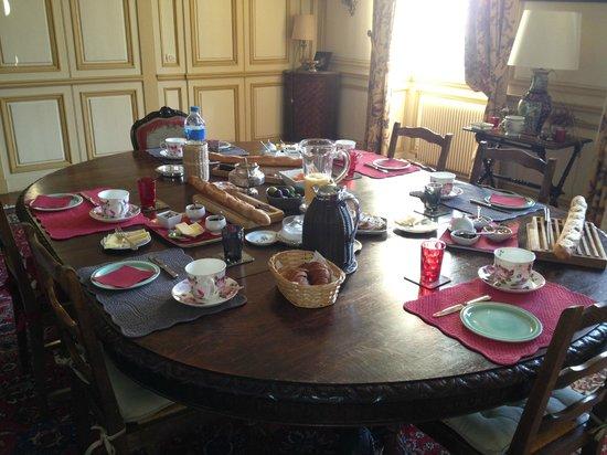 Manoir du Captot : Petit déjeuner somptueux
