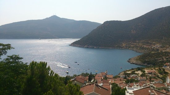 Happy Hotel Kalkan : View over Kalamar Bay from our balcony