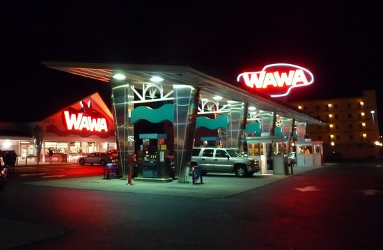 The Doo Wop Preservation League Museum: Wawa is gas station/convenience
