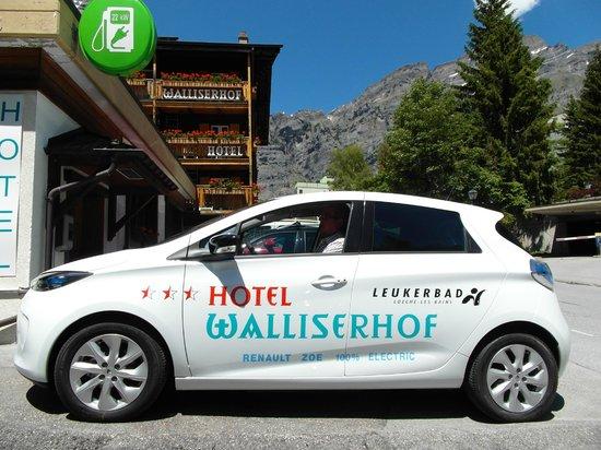 Hotel Walliserhof: Ladestation für Elektroautos Typ2