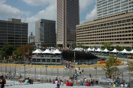 Sleep Inn & Suites Downtown Inner Harbor: View from grand stand Grandprix of Baltimore