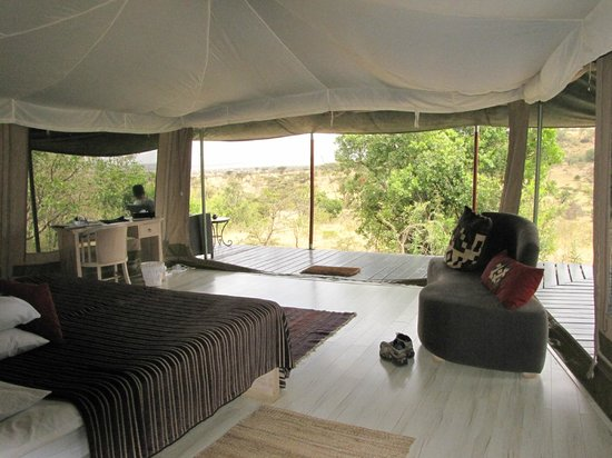 Kicheche Valley Camp: inside the tent and view