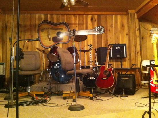 Burgin, KY: Stage before the gig starts