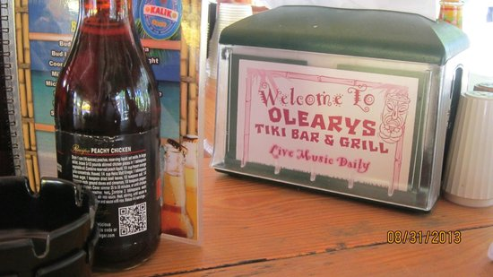 O'Leary's Tiki Bar & Grill: craft beers and tropical mixed drinks available